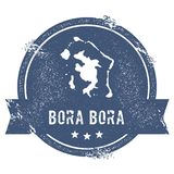 Sinal do logotipo de Bora Bora Foto de Stock Royalty Free