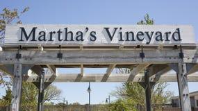 Sinal do Martha's Vineyard Fotografia de Stock