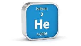 Sinal do material do hélio filme