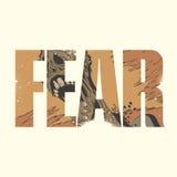 Sinal do medo ilustração royalty free