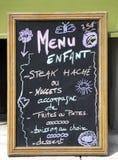 Sinal do menu de crianças Imagem de Stock