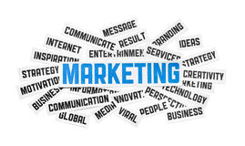 Sinal do mercado Imagens de Stock