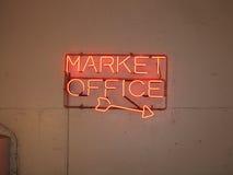 Sinal do mercado Foto de Stock Royalty Free