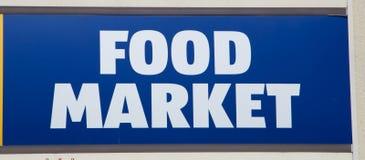 Sinal do mercado do alimento Fotografia de Stock Royalty Free