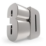 sinal do metal 3D Imagens de Stock