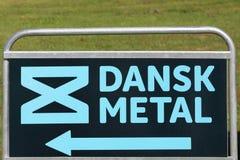 Sinal do metal de Dansk em um painel imagens de stock royalty free