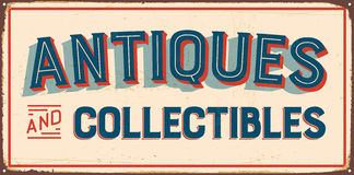 Sinal do metal do vintage ilustração stock