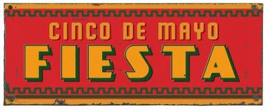 Sinal do metal do Grunge de Cinco De Mayo Party Fiesta Art fotografia de stock royalty free