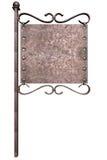 Sinal do metal no pólo da rua Imagem de Stock Royalty Free