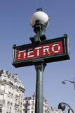 Sinal do metro de Paris Foto de Stock Royalty Free