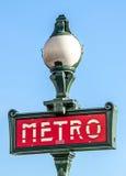 Sinal do metro de Paris Imagens de Stock