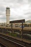 Sinal do metro do Washington DC no aeroporto de Ronald Reagan National Fotos de Stock