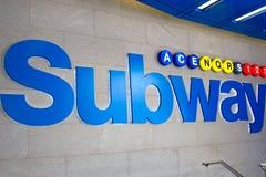 Sinal do metro, NYC Imagem de Stock