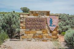 Sinal do monumento nacional de Hovenweep Fotos de Stock