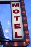 Sinal do motel Foto de Stock Royalty Free