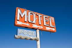 Sinal do motel do vintage Fotos de Stock