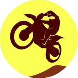 Sinal do motocross Imagens de Stock