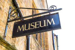 Sinal do museu fotografia de stock