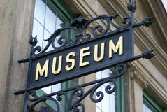 Sinal do museu Imagem de Stock Royalty Free