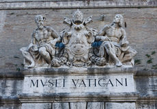 Sinal do museu de Vatican foto de stock royalty free