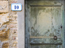 Sinal do número da casa 10 Imagens de Stock Royalty Free