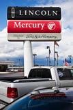 Sinal do negócio do Mercury de Ford Lincoln Foto de Stock Royalty Free