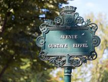 Sinal do nome da rua de Paris Imagem de Stock Royalty Free