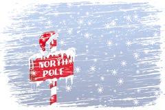 Sinal do Pólo Norte ilustração do vetor