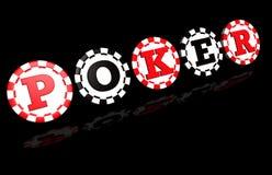 Sinal do póquer no preto Foto de Stock Royalty Free
