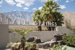 Sinal do Palm Springs Fotografia de Stock