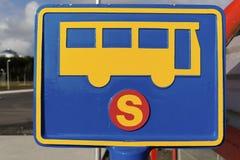 Sinal do paragem do autocarro Imagens de Stock Royalty Free
