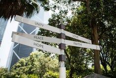 Sinal do parque dos substantivos Fotografia de Stock