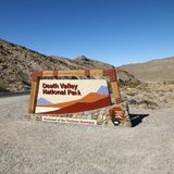 Sinal do parque nacional de Death Valley. Fotos de Stock