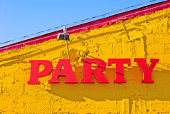 Sinal do partido Foto de Stock
