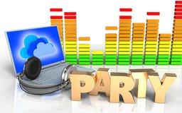 sinal do partido do sinal do partido 3d ilustração do vetor
