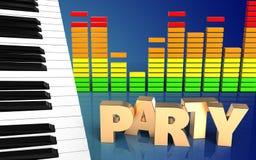 sinal do partido do sinal do partido 3d Imagem de Stock Royalty Free
