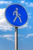 Sinal do pedestre Imagem de Stock Royalty Free