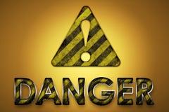 Sinal do perigo ilustração stock