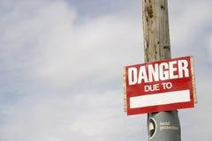 Sinal do perigo Fotos de Stock Royalty Free