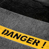 Sinal do perigo Imagens de Stock