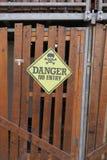 Sinal do perigo Foto de Stock Royalty Free