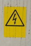 Sinal do perigo da eletricidade Imagens de Stock Royalty Free