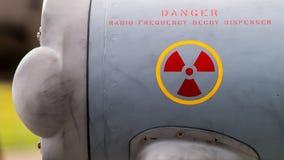 Sinal do perigo da radiação de rádio Imagem de Stock Royalty Free