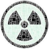 Sinal do perigo da raia X dentro de um círculo Imagem de Stock Royalty Free