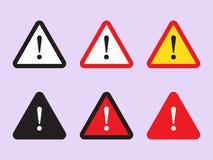 Sinal do perigo, sinal de aviso, sinal da atenção Ícone do perigo, ícone de advertência, ícone da atenção ilustração royalty free