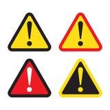 Sinal do perigo, sinal de aviso, sinal da atenção Ícone do perigo, ícone de advertência, ícone da atenção ilustração do vetor