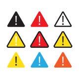 Sinal do perigo, sinal de aviso, sinal da atenção Ícone de advertência da atenção do perigo ilustração do vetor