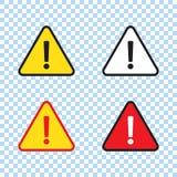 Sinal do perigo, sinal de aviso, sinal da aten??o ?cone de advert?ncia da aten??o do perigo ilustração stock