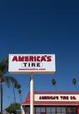 Sinal do pneu de América Imagem de Stock