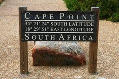 Sinal do ponto do cabo, África do Sul imagem de stock